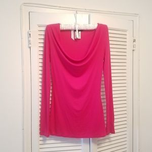 BCBGMaxAzria pink cowl neck sweater